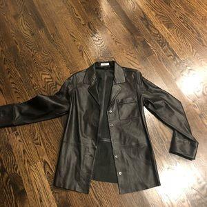 Equipment leather jacket coat blazer SP